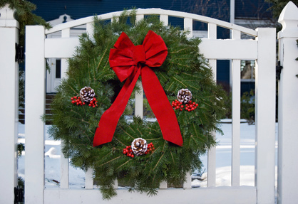 Machias Bay Wreath on Fence